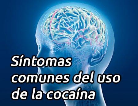 Síntomas comunes del uso de la cocaína
